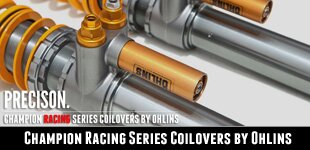 Champion Racing Series Coilovers by Ohlins | For GT3 and GT3RS Applications