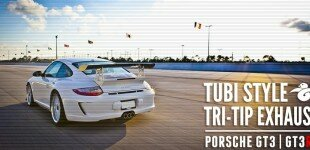 Tubi Style - Porsche GT3/GT3RS Three-Pipe Center Muffler (Titanium)