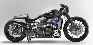 Harley Davidson And Bell & Ross Created Nascafe Racer Bike