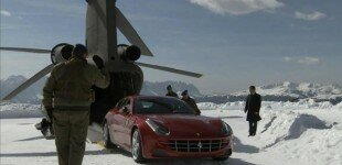 Ferrari FF gets ski-mountain delivery via Chinook helicopter