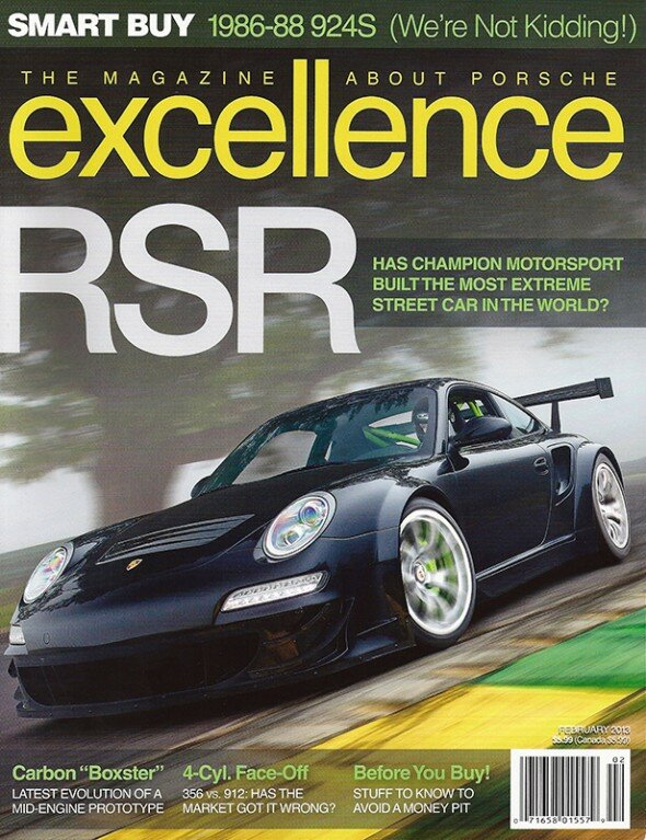 Excellence Magazine Champion Motorsport Turbo RSR