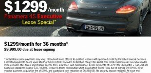 Champion Porsche | Panamera Executive Lease Special