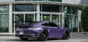 Ultraviolet Porsche GT3RS Exhaust Installation